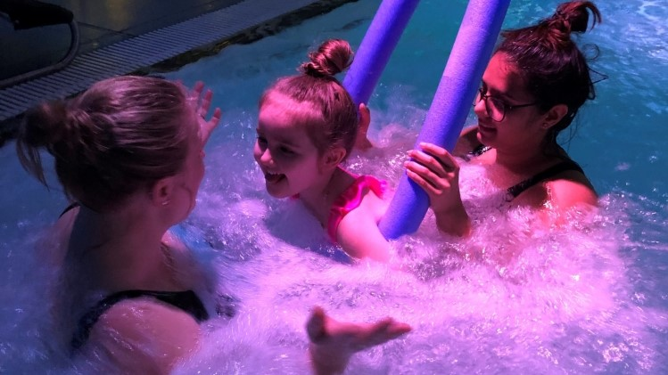 Mollie in hydrotherapy