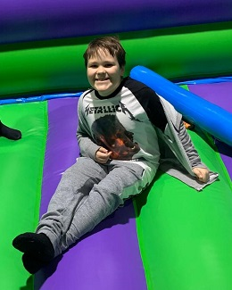 @imageright(Joey_bouncy_castle_260,{Joey's recovery includes having plenty of fun})