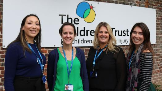 Our corporate partnerships team, left to right, Georgia, Vanessa, Jane and Ruth
