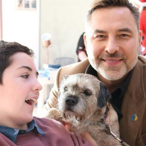 Liam meets David and his dog 'Burt'